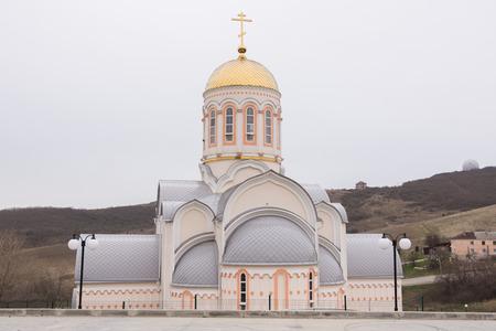 kuban: Varvarovka, Russia - March 15, 2016: Barbara the Great Martyr Church in the village Varvarovka, a suburb of Anapa, Krasnodar Krai