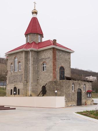 martyr: Varvarovka, Russia - March 15, 2016: The old church in the village of Great Martyr Barbara Varvarovka, a suburb of Anapa, Krasnodar Krai Editorial