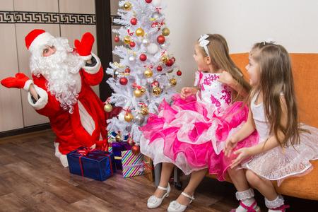 ambush: Two girls ambush for Santa Claus