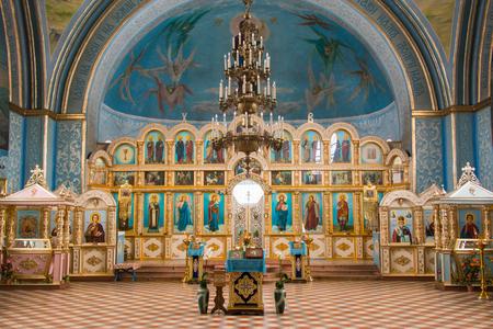 martyr: dubovyj ovrag, Russia - February 20, 2016: Interior inside the church of the Holy Martyr Nikita, located in the village of dubovyj ovrag in the Volgograd region Editorial
