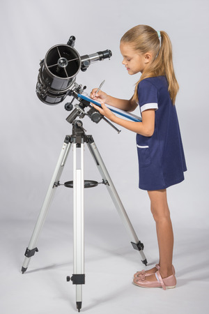 observations: Young Astronomer writes the results of observations in the Documents folder