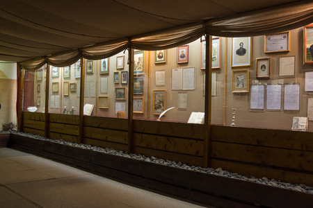 taman: Taman, Russia - March 8, 2016: Inside view of the museum in memory of the great Russian poet of stay MY Lermontovs Taman in September 1837