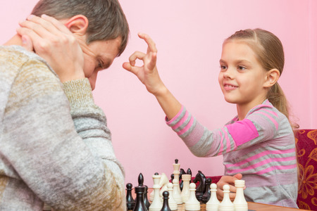 debate win: My daughter has a finger on the popes head, who lost a game of chess