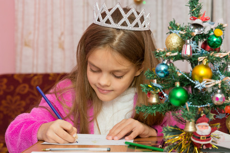 desires: A girl waiting for a new year, writes a letter to the desires