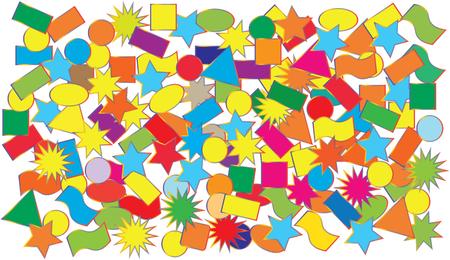 Vector illustration - crumbling colored confetti Stock Photo