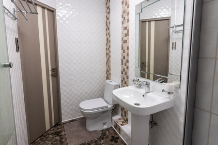 The interior of the toilet room in the apartment