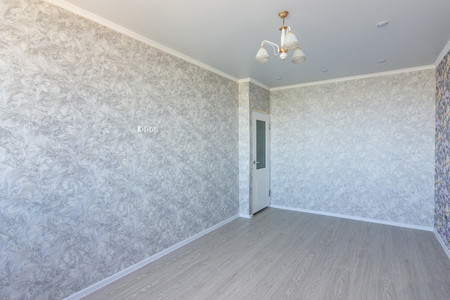 Empty room in the apartment, after repair