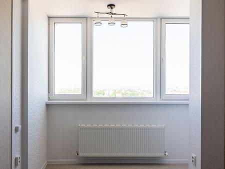 Glazed balcony in the apartment
