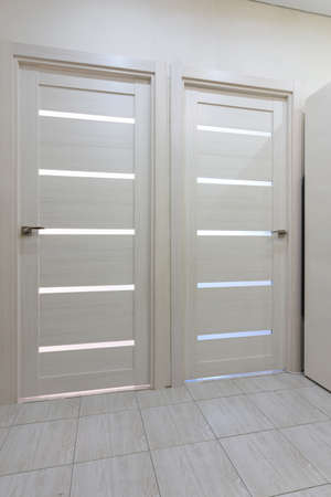 Two interior doors in the apartment close up Stockfoto