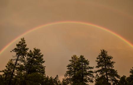 カラフルな虹 写真素材