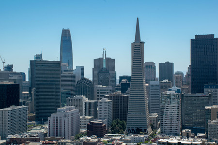 The view of entire SF city is visible from Coit Tower. Named for wealthy eccentric Lillie Hitchcock Coit, this is both a vantage point and one of San Franciscos most photographed buildings.