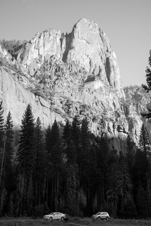 Over eons, rivers and glaciers somehow carved 3,000 feet into solid granite to create Yosemite Valley. The nuances of the Valley form spectacular rock formations, for which Yosemite Valley is famous. Visitors all year can gaze up from the Valley floor to appreciate the enormity of it all.
