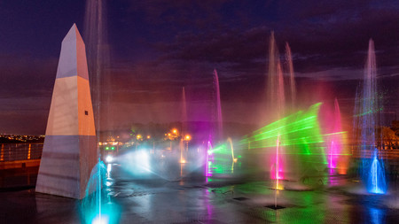 Prismatic Light Show in Iguazu Falls Argentina