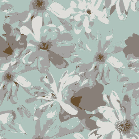 seamless abstract unfinished floral background