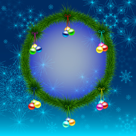 new year or cristmas background for congratulation or greeting words in center Vector