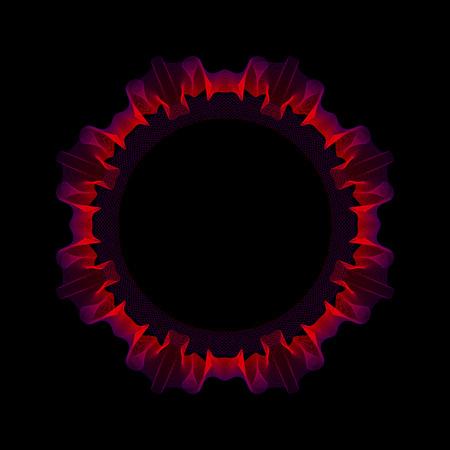 interweaving: intreccio di sottili linee colorate raffiguranti bella maglia traforata per un'icona. Vettoriali