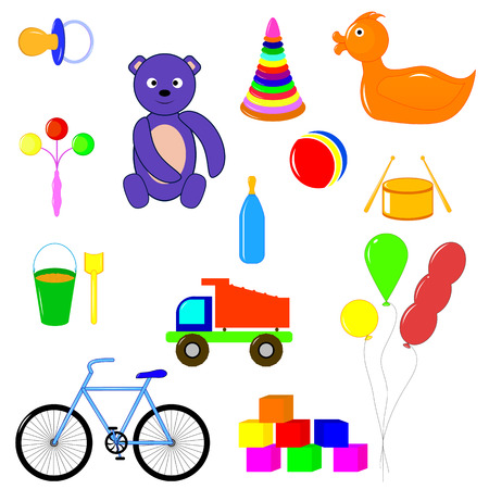 items: baby items and toys for children of different ages