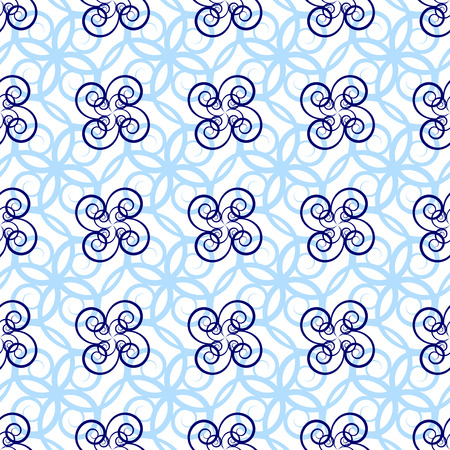 colore: seamless pattern of beautiful curly lines Illustration