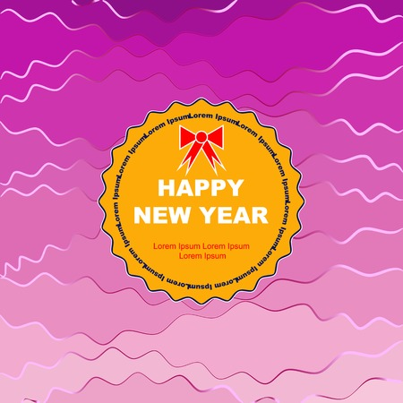 postcard design: new year postcard for your design