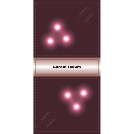 velvety: banner or card with lights and lines of different lengths.