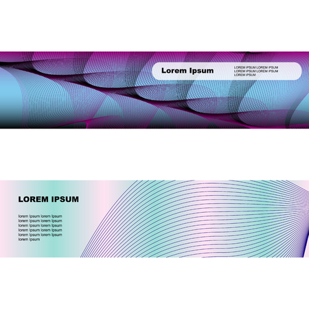 banners web: Two banners with web of thin lines. some waves of thin lines on banners for your design