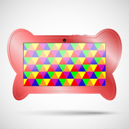 children s: Children s tablet with educational games. Children s tablet in the form of a butterfly for your design
