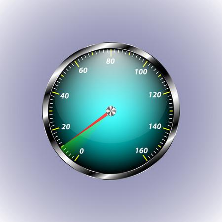 numero diez: Velocímetro indica la velocidad de diez. flecha roja indica el número diez para su diseño
