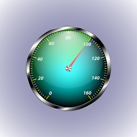 hundred: Speedometer shows hundred speed. red arrow shows number hundred for your design