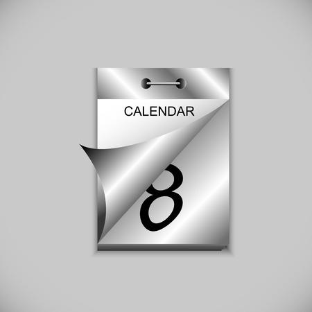 detachable: tear-off calendar. wall-mounted tear-off calendar for your design