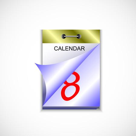 detachable: tear-off calendar in color. wall-mounted tear-off calendar for your design