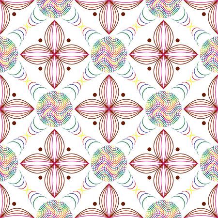 Transparente De Líneas De Color En Los Círculos Y Las Hojas De ...
