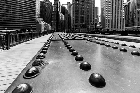 Chicago street photography, Black and white shot Stock Photo