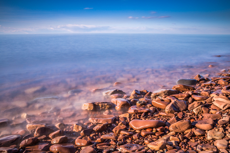 long lake: Lake Superior, beautiful macro-landscape long exposure