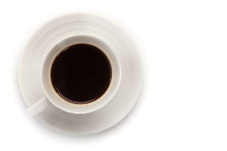 Tasse Hot Coffee auf ein wei�er isolierte Hintergrund