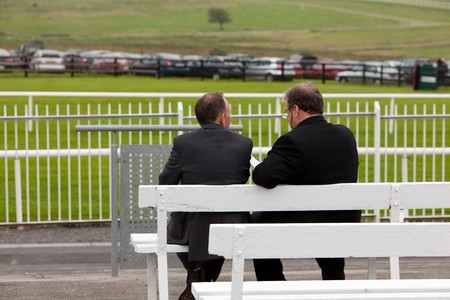 Two Businessmen At The Racecourse in Galway 2010
