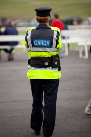 constable: Female Irish Police Officer At Galway Races 2010 Stock Photo