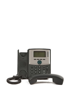 IP Phone Off The Hook On White Isolated Background