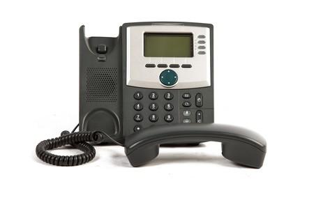 IP-Telefon Off The Hook On White Isolated Background