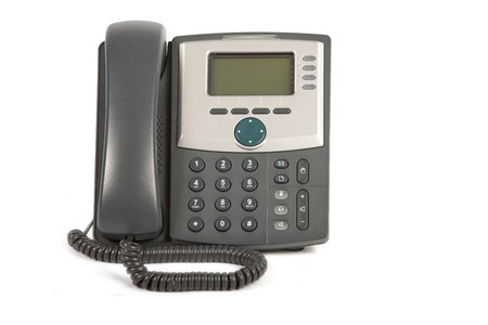 IP Phone on White Isolated Background photo