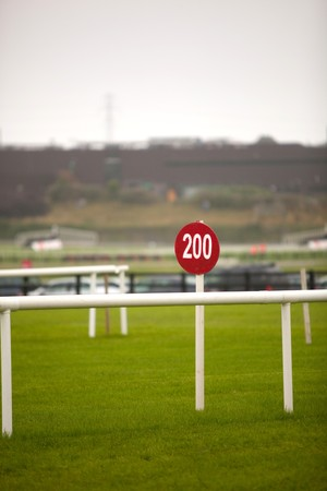 racecourse: Red Sign At The Galway Racecourse