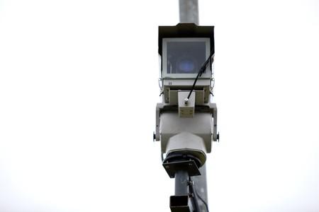 Security Camera on a Pole