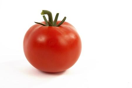 Fresh Red Tomato on White Isolated Background Stock Photo