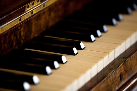 antique sleigh: Old Piano Keyes