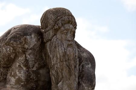Statue Made Of Stone In Connemara Ireland