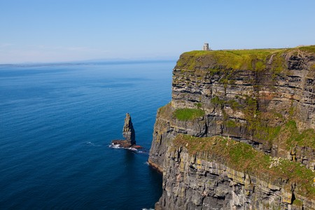Cliffs of Moher with Blue Sky in County Clare, Ireland