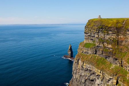 Cliffs of Moher with Blue Sky in County Clare, Irland