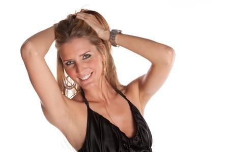Gorgeous Female Model auf wei�er hintergrund isolated Lizenzfreie Bilder