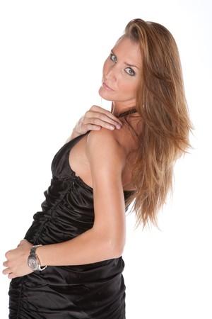 Sexy Female Model on White Isolated Background Lizenzfreie Bilder