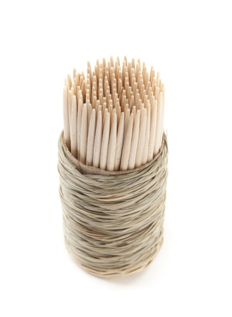 Closeup of Toothpick on White Isolated Background