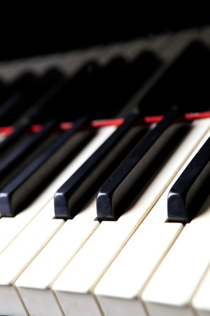 Closup of Black and White Piano Keys